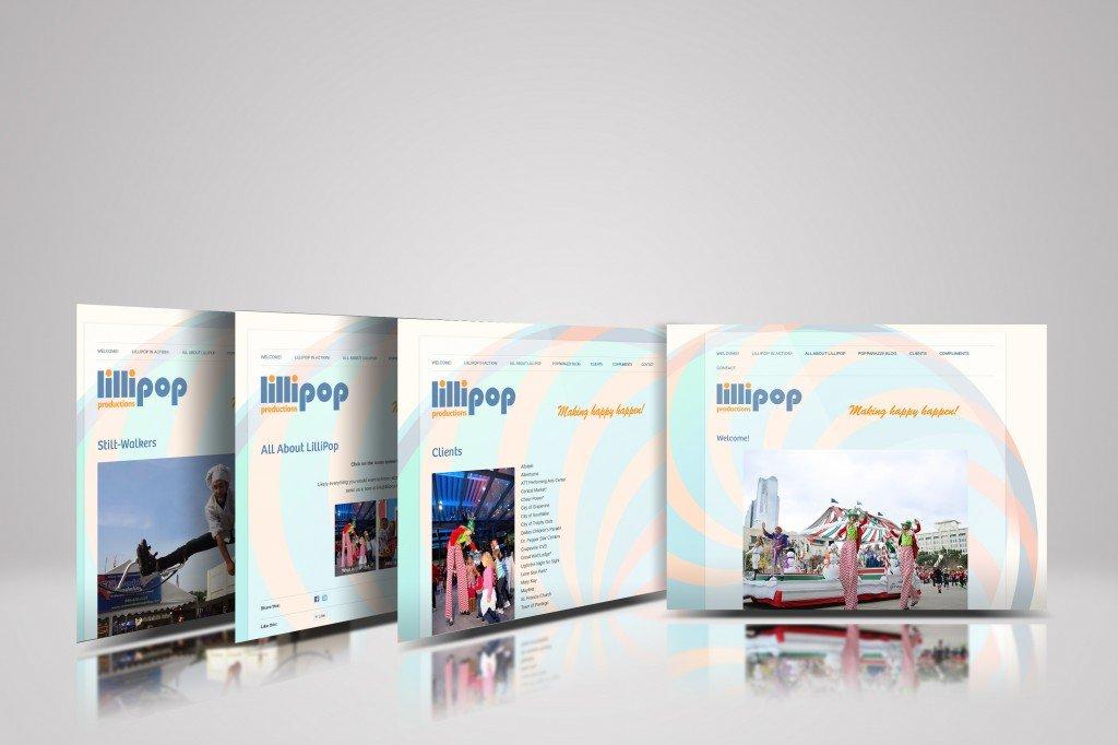 website design for lollipop by citywork