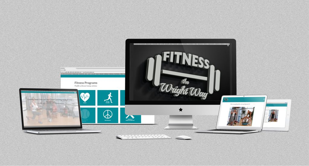 fitness the wright way website and branding