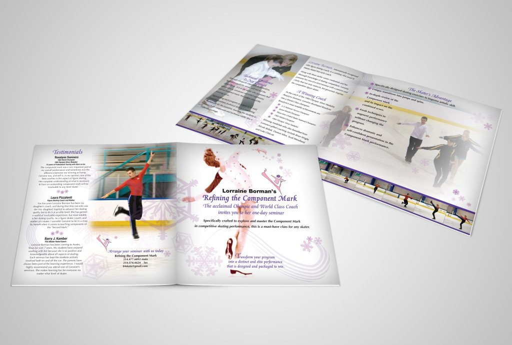 brochure for olympic skating coach